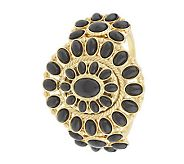 rachel zoe's covered cabochon goldtone blossom watch
