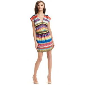cynthia vincent tribal print dress