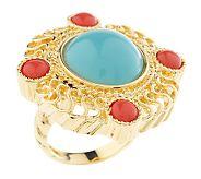 rachel zoe intricate cabochon ring