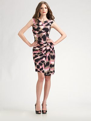 diane von furstenberg stretch silk dress