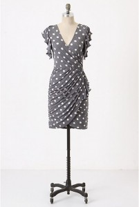 grey anthropologie dress