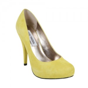 yellow steve madden trinite pumps