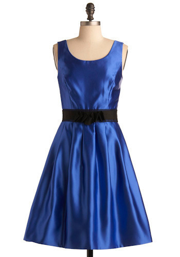 modcloth blue ribbon dress