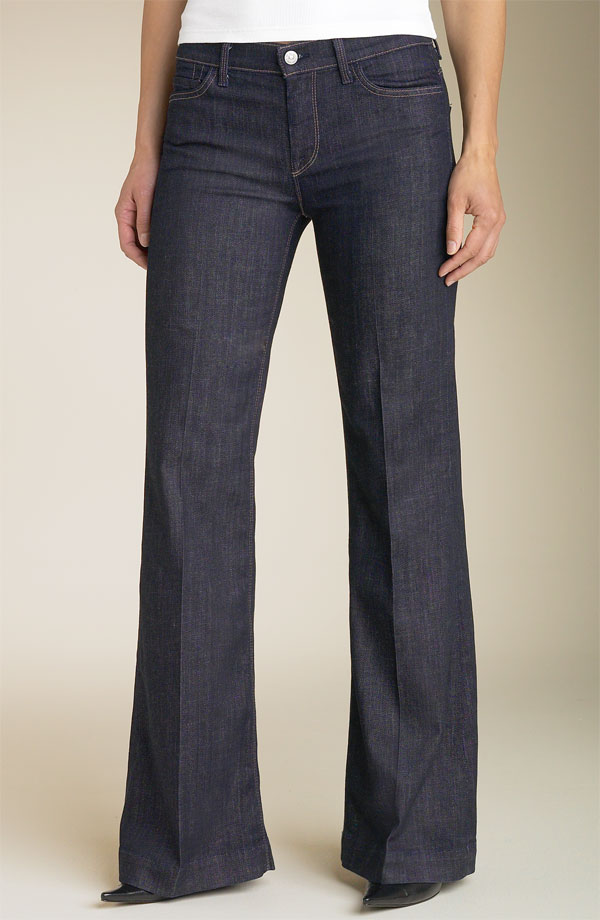 7 for all mankind ginger wide leg denim pants