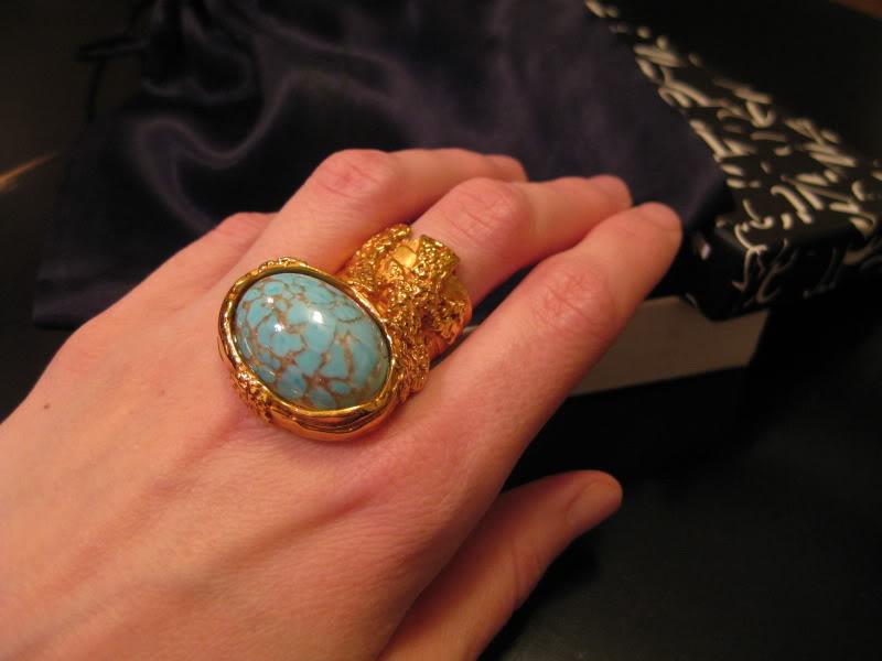 yves saint laurent arty ovale ring