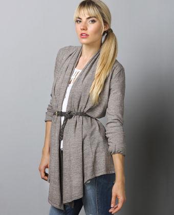 heather 5th avenue wrap cardigan by alternative apparel