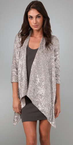 alice and olivia steph sequin cascade cardigan