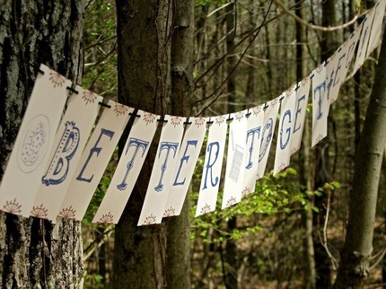 better together garland party banner