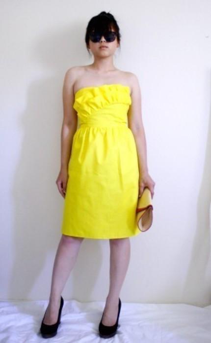nostalgia haute kia dress in buttercup