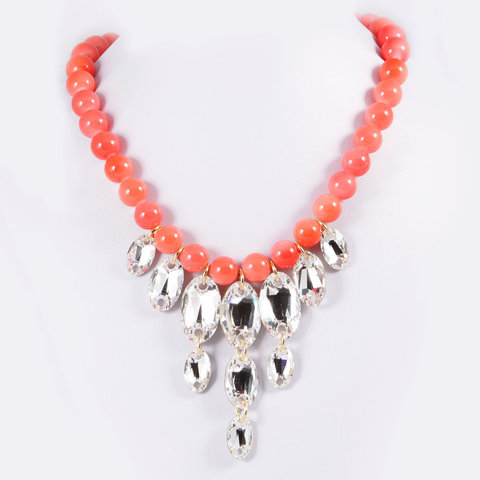 chrissy l accessories bonbon coral necklace