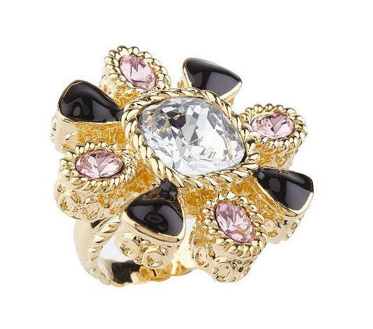 rachel zoe goldtone radiant flower ring