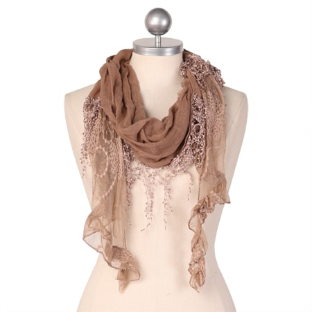 teresa's tea biscuit brown scarf