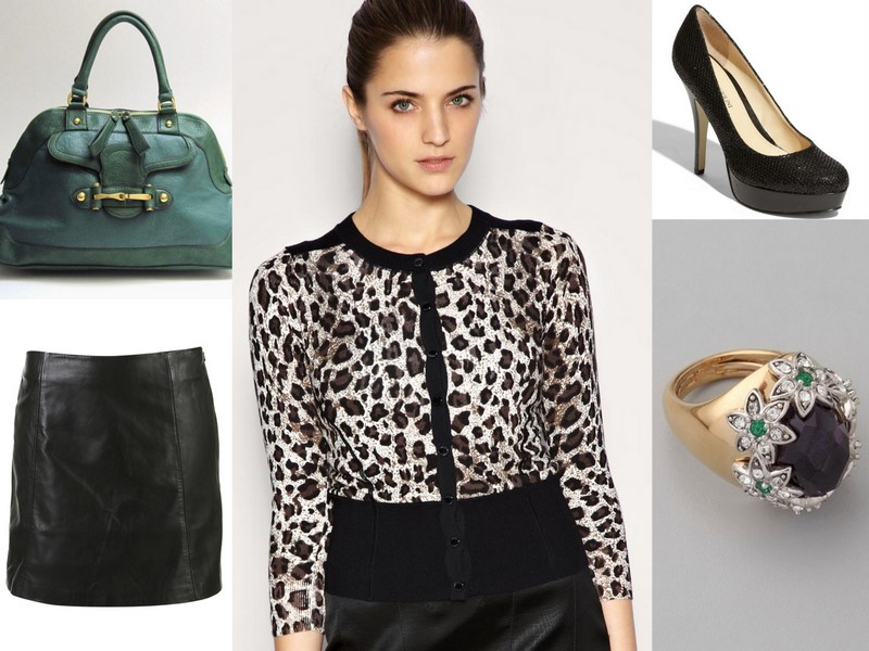 leopard and emerald outfit