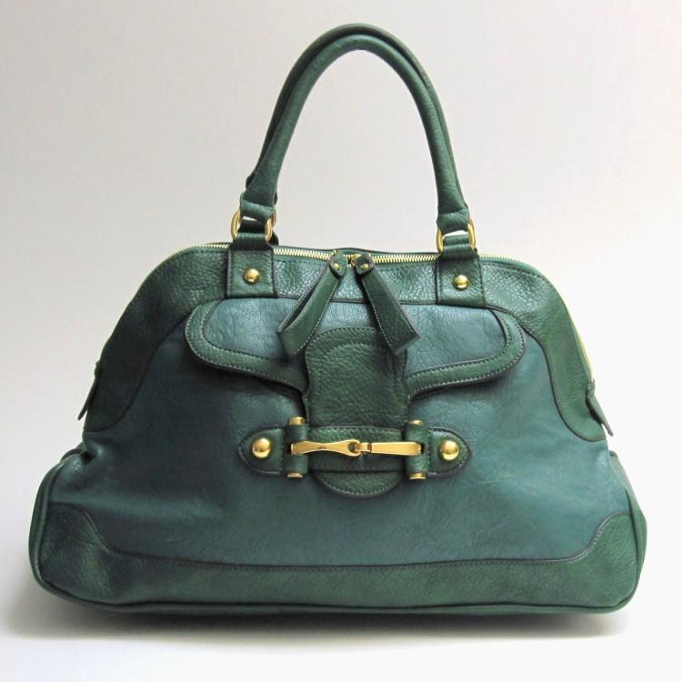 mimi boutique chanelle doctor satchel in green