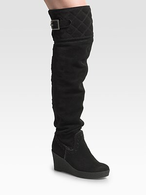 juicy couture over the knee suede wedge boot