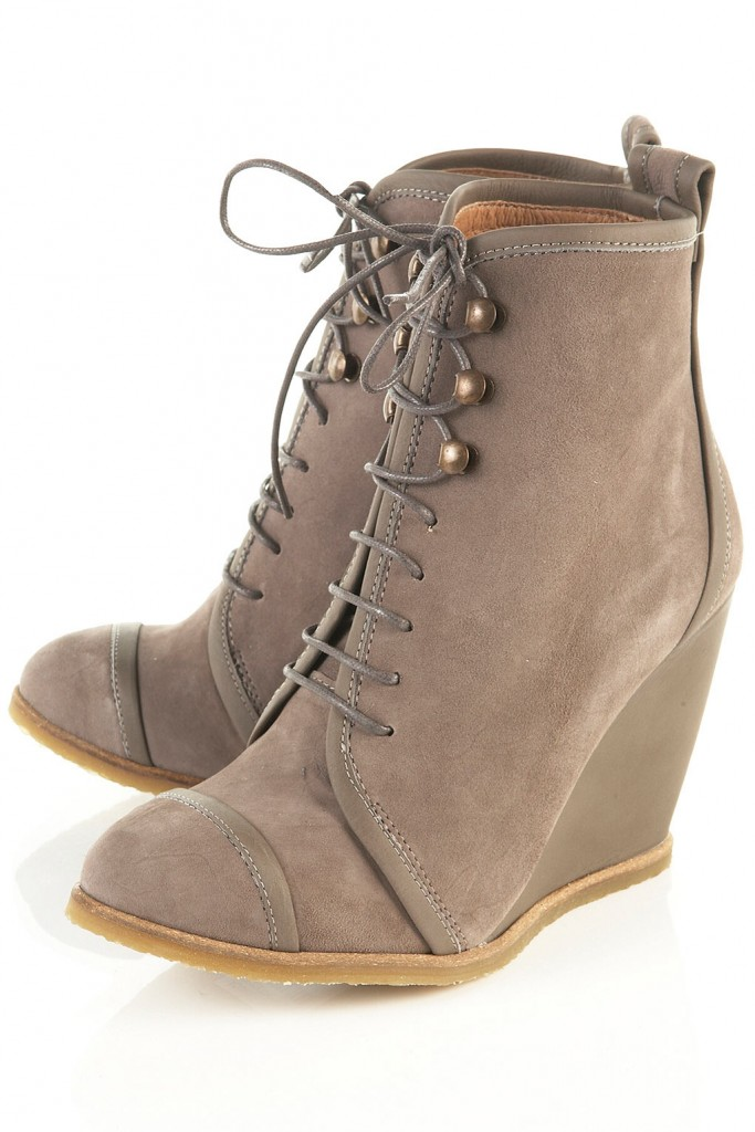 topshop acorn wedge boot