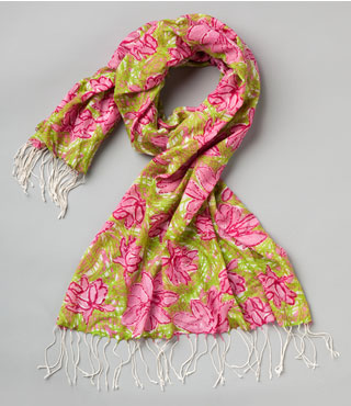 lily pulitzer limited edition breast cancer awareness murfee scarf