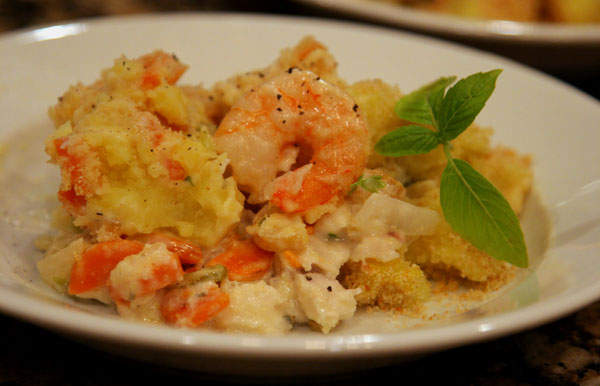 Plated Seafood Casserole