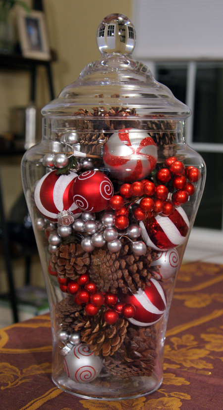 One Glass Jar Two Easy Holiday Centerpieces Take Time For Style