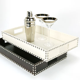 Z Gallerie studded tray