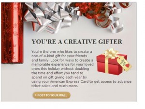 American Express Gift Giving Personality