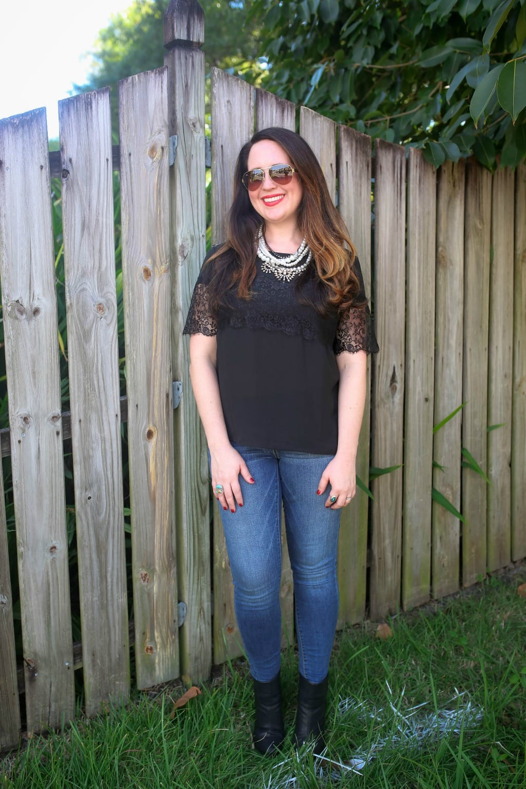 lace top outfit