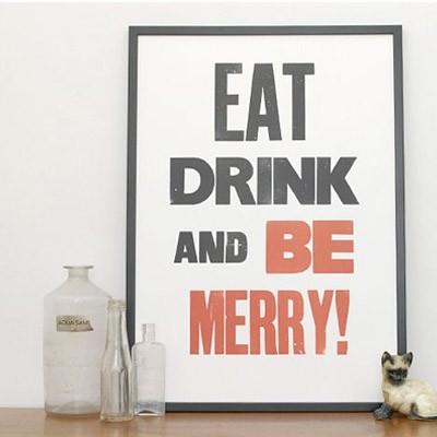 be merry print