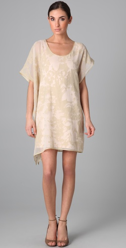 ports 1961 asymmetrical sleeve dress