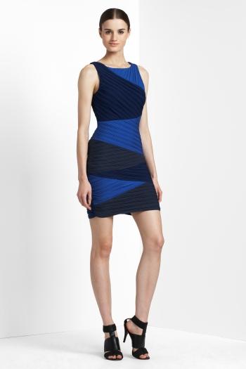 bcbg max azria color block dress