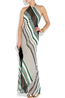 lotta stenson nairobi printed silk chiffon maxi dress