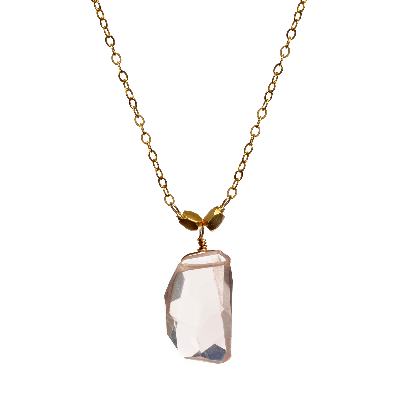 wendy mink rose quartz necklace