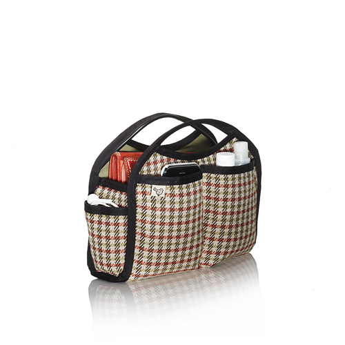 plaid doctrine purse organizer