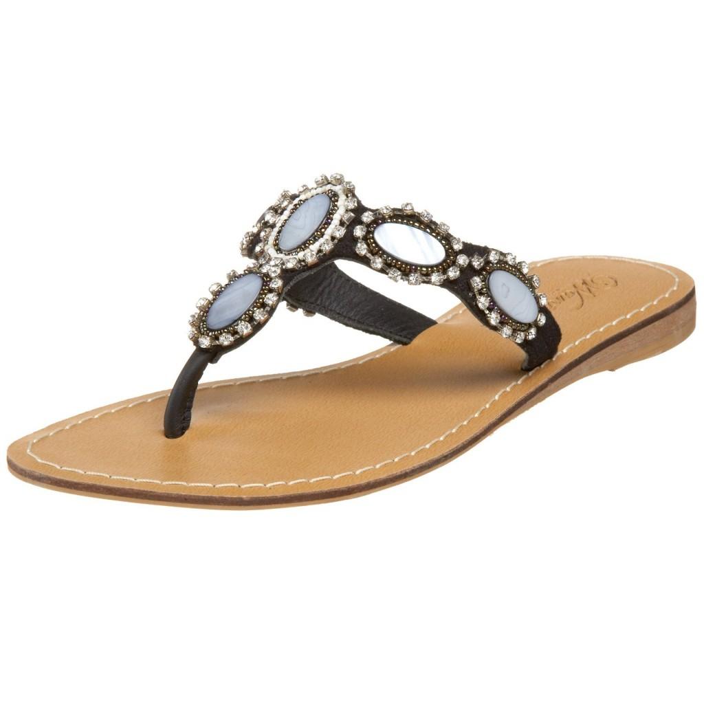 wanted women's folly thong sandal