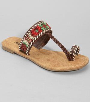 beaded abita sandals