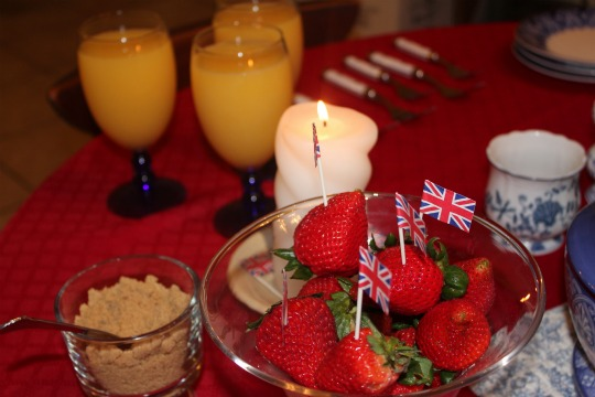 royal wedding champagne breakfast