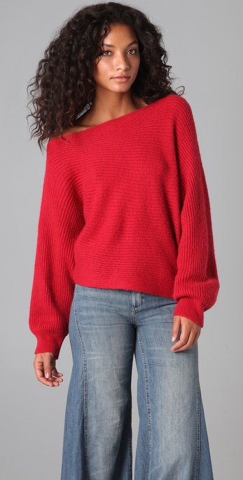 free people horizontal ribbed cropped sweater
