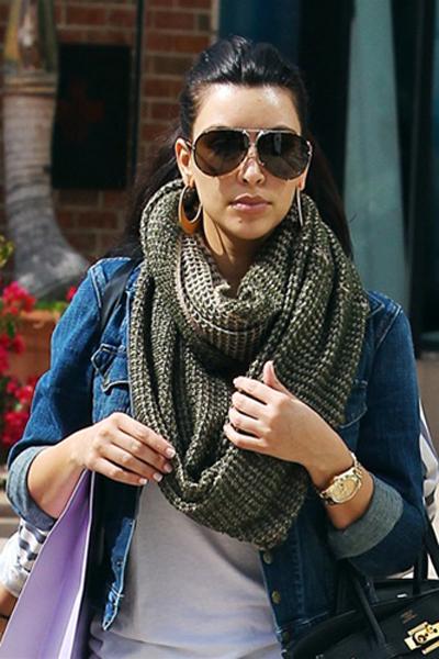 paula bianco two tone infinity scarf