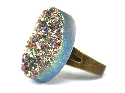 brooklyn thread bonfire druzy ring