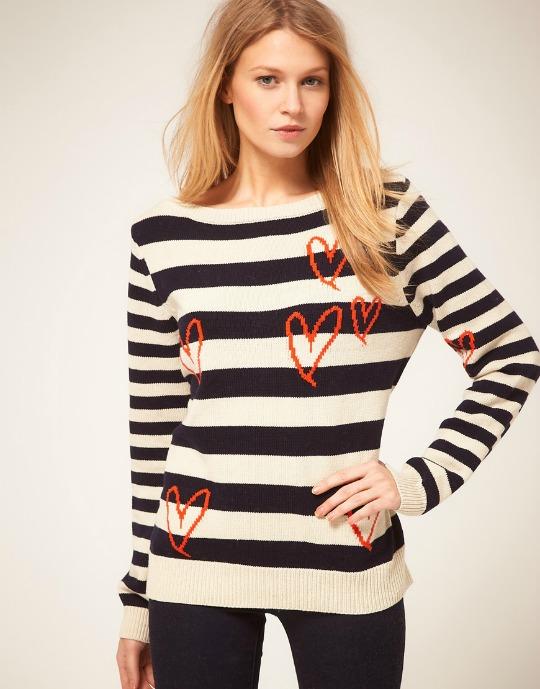 oasis heart sweater