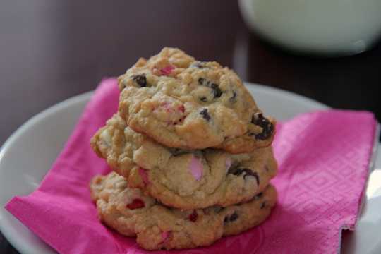 Valentine's Day Chocolate Chip Cookies