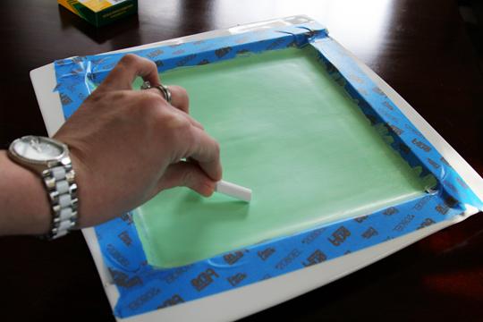 Chalkboard Cheeseboard DIY