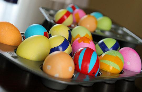Chevron Easter Eggs