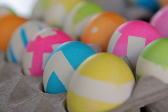 Chevron Easter Eggs