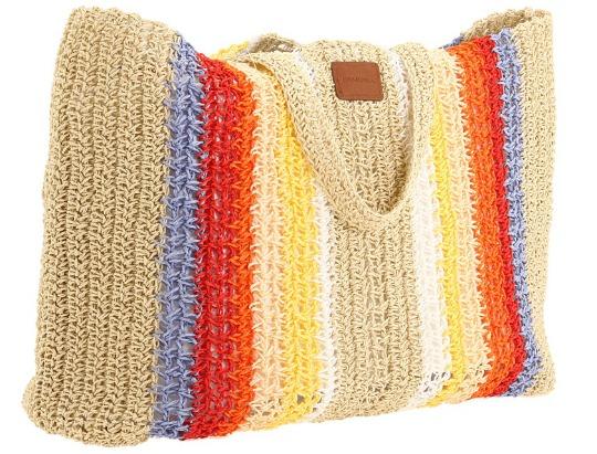 oneill straw beach bag