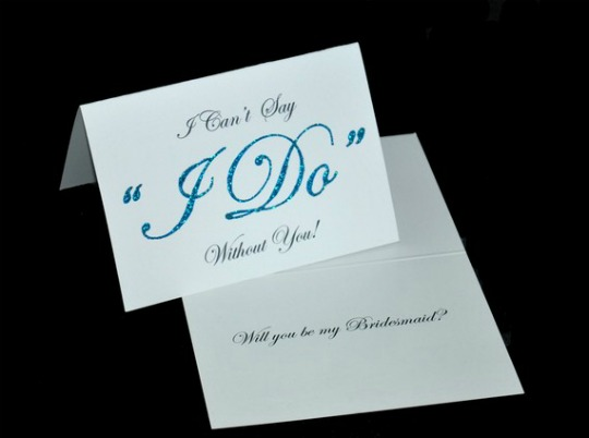 bridal party card