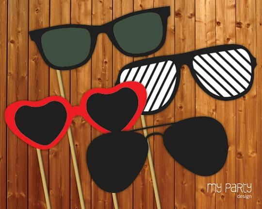 sunglasses photo props