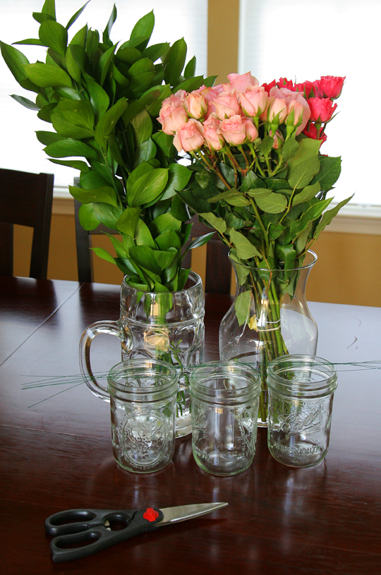 Easy Mason Jar Centerpieces - Take Time For Style