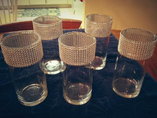 Diy Rhinestone Trim Vases Take Time For Style