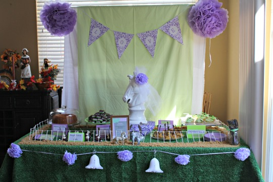 kentucky derby bridal shower dessert table