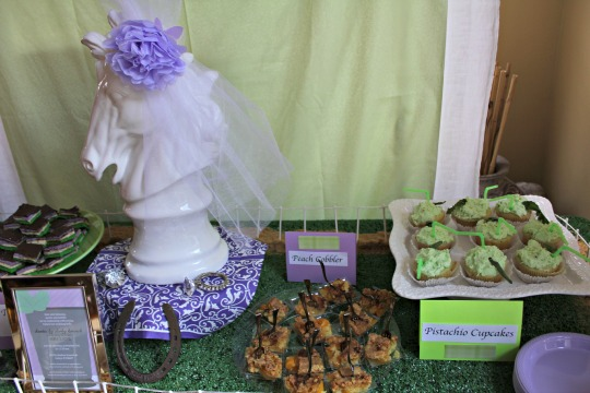 kentucky derby bridal shower desserts